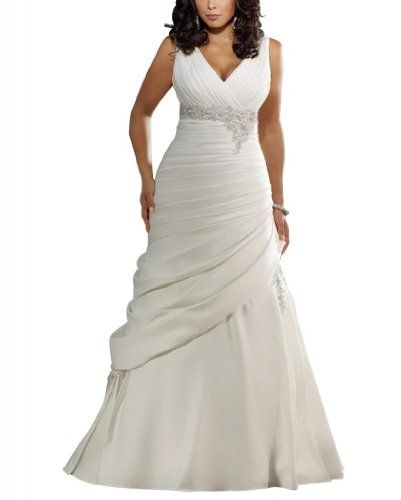 GEORGE BRIDE Gorgeous Strap V Neck A-line Taffeta Court Train Wedding Dress Size 18 Ivory GEORGE BRIDE,http://www.amazon.com/dp/B00B2YKO6S/ref=cm_sw_r_pi_dp_-x1Esb07KE49HEVZ