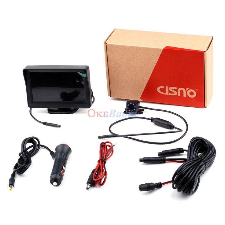 CISNO 4.3 TFT LCD Monitor Car Backup Camera Rear View Parking Assistance Set