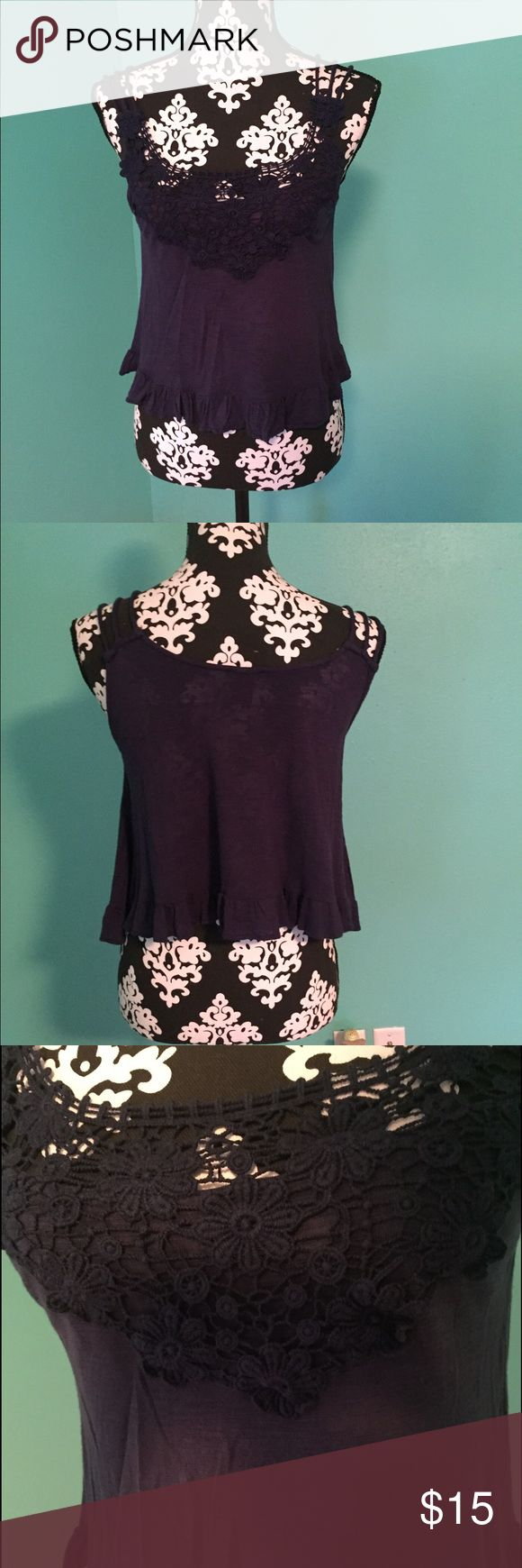 Rue 21 crop top Rue 21 flowy crop top. Great condition. Non smoking home Rue 21 Tops
