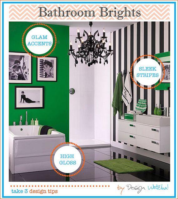 Bright Green Bathroom, Glamorous, Girlie!