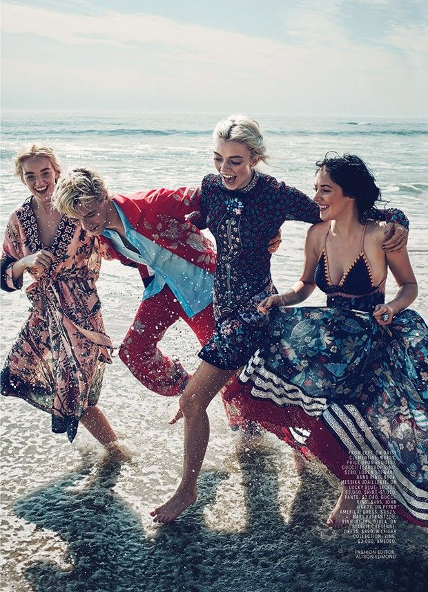 """""""Blue Crush"""" Lucky Blue and siblings for Marie Claire US January 2016"""