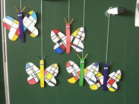 As reported, I want a small Mondrian butterfly in art class with my greetings after the Easter holidays.