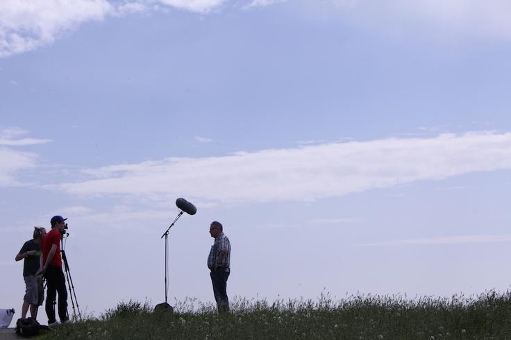 Die Watt-Reporter haben ihr Büro mitten in der Natur…