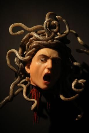 """Medusa"" CARAVAGGIO. One of my favorites that we learned about in art history. He's insane"