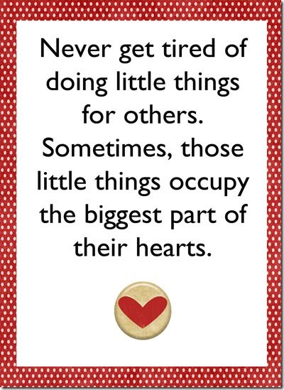 Love this! And it is SO true. The small things always come to mind first when thinking of that special someone :)