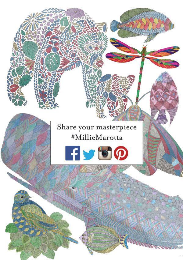 Share Your Masterpiece From Millie Marottas Animal Kingdom