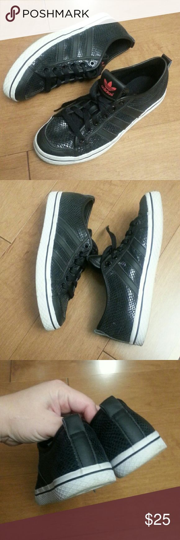 Adidas Women's Athletic Shoes Great condition. Size 6.5. Black and little sparkly. Adidas Shoes Athletic Shoes
