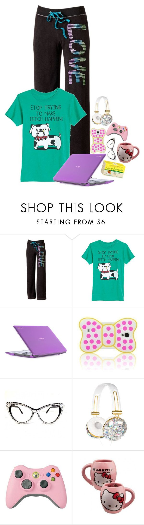 """Untitled #1155"" by emmzizleez888 ❤ liked on Polyvore featuring SO, ASUS, Samsung, Hello Kitty and vintage"