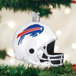 Old World Christmas Buffalo Bills Football Helmet Glass Ornament found at the Official ChristmasOrnamentStore.com
