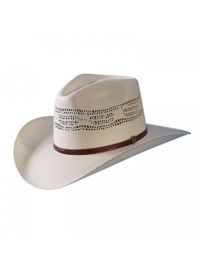 Cowboy Bangora Ivory Straw Hat