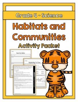 "The ""Habitats and Communities"" activity packet is aligned with the Ontario Grade 4 Science curriculum expectations. The activities included in this activity packet have students explore what habitats and communities are and understand the impact that human activities can have on habitats and communities."