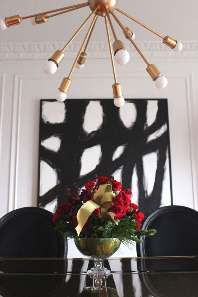 Gold Christmas Tree White Crown Moldings Black And White