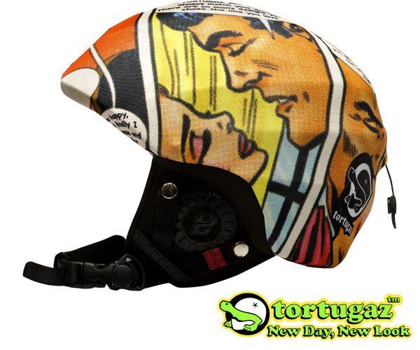 Tortugaz™ Universal Ski Snowboard Helmet Cover Skin Protector Comics Style