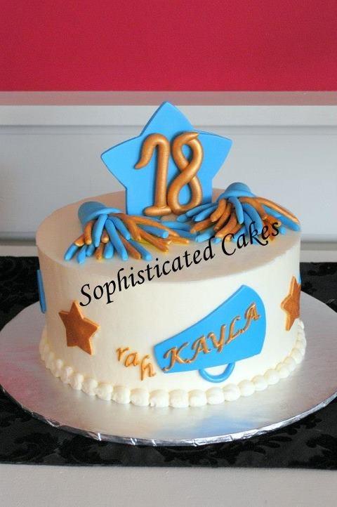 fondant cheerleading cake - Google Search