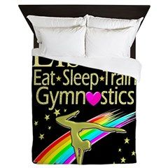 Gymnast Life Queen Duvet Your Gymnast will tumble, leap and flip for our personalized Gymnastics Duvets. http://www.cafepress.com/sportsstar/12969453 #Gymnastics #Gymnast #WomensGymnastics #Gymnastgift #Lovegymnastics #GymnasticsDuvet #Gymnasticsdecor #PersonalizedGymnast