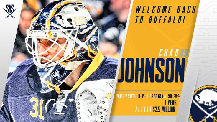 Sabres sign goaltender Johnson to 1-year contract