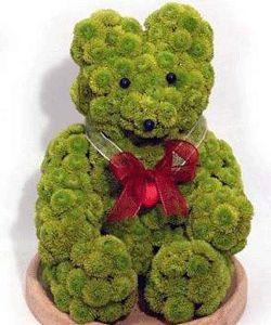 how to make a teddy bear flower arrangement