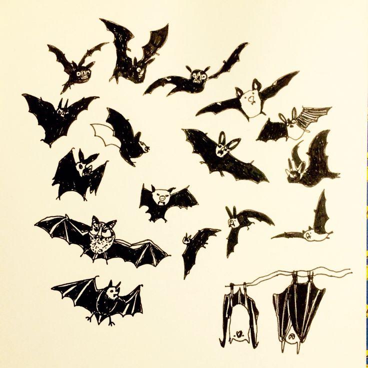 Bats, illustration by Marie Åhfeldt - Mås Illustra