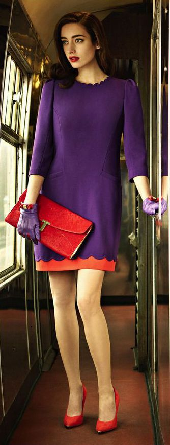 ~Board The Train At Waterloo Station Wearing Your Ted Baker London Stretch Shift Dress | The House of Beccaria