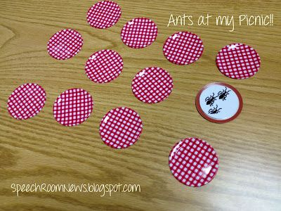 Speech Room News: Ants at my Picnic! Reinforcer game for any artic, fluency or language activities!