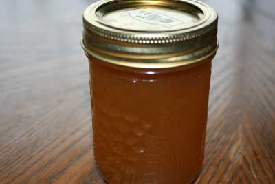 homemade cough syrup made with onion, honey, and herbs.