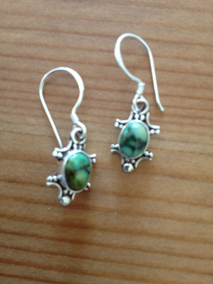 Sterling Silver with Green Moonstone