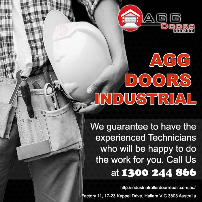 AGG Doors Industrial guarantees to have experienced technicians in the field that would happily caters your door needs. Call us at 1300244866  #industrialdoorrepair #industrialrollerdoorrepair #commercialrollershutterrepair #rollershutterrepairsMelbourne #commercialrollerdoorrepair