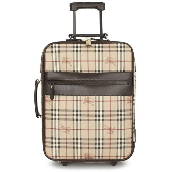 HAYMARKET CHECK SUITCASE (3.995 BRL) found on Polyvore featuring women's fashion, bags, luggage, accessories, burberry and travel