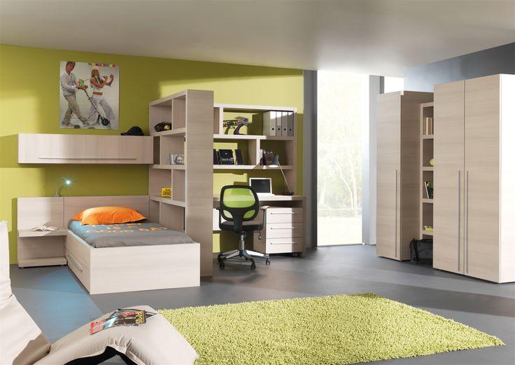 Eigenzinnige jeugdkamer met vele mogelijkheden. Creëer een studie en relaxruimte in één.