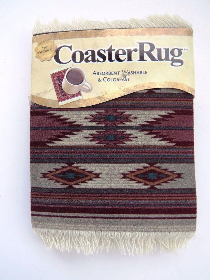 NEW American Southwest COASTER Rugs - Earthtones Flatweave Rug Design Non Slip