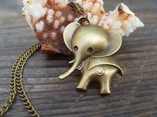 3D Cute Elephant Necklace Inspire jewelry steampunk christmas gift
