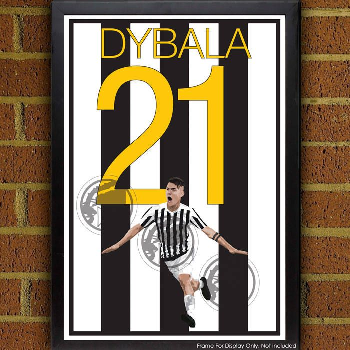 Paulo Dybala Juventus Poster - Italy Soccer Poster- 8x10, 13x19, poster, art, wall decor, home decor, world cup by Graphics17 on Etsy