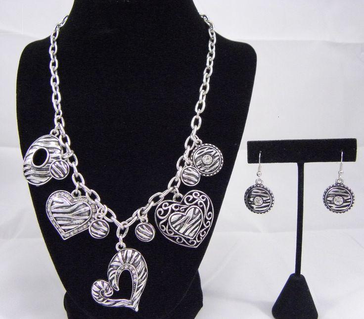 Chain Heart Statement Necklace