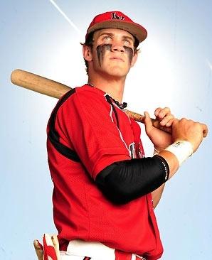 love a man in a baseball uniform and also eye black..