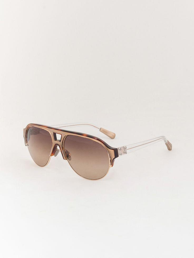 LINDA FARROW X KRIS VAN ASSCHE , Kaplumbağ Sırt Desenli Güneş Gözlüğü  #shopigo#shopigono17#accessories#womenswear#menswear#fashion#sunglasses#style#colourful