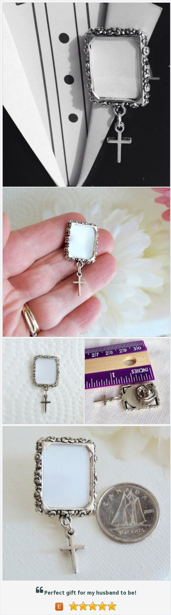 Memorial pin. Photo lapel pin with tiny cross. Small picture frame lapel pin or tie pin. Remembrance picture. DIY or I do photo. #weddings #grads #giftidea #etsymntt https://www.etsy.com/ca/SmilingBlueDog/listing/513753553/memorial-pin-photo-lapel-pin-with-tiny?ref=related-5