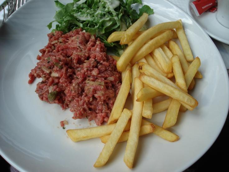 Steak Tartar & Frites in Paris