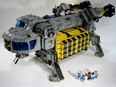 Container Shuttle Craft CSC: A LEGO® creation by Daniel Hamann : MOCpages.com