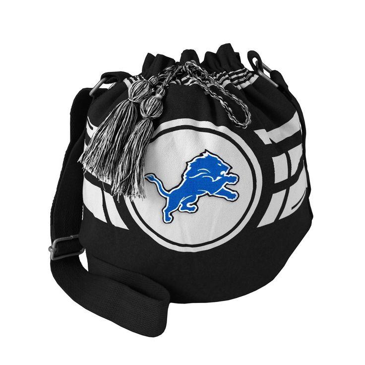 NFL Detroit Lions Drawstring Bucket Bag, Women's