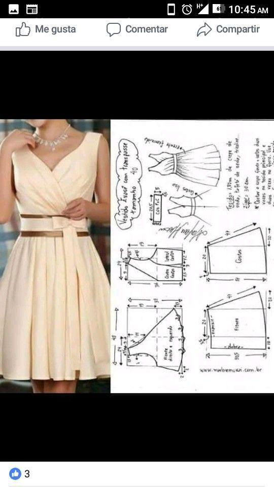 Best 12 Best 12 La costura ✂ los Patrones. El vestido de boda (de tarde) largo…
