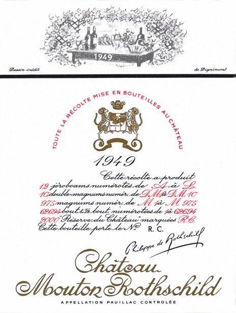 Etiquette Mouton Rothschild 1949  André DIGNIMONT