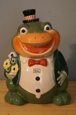 Frog with Top Hat Cookie Jar
