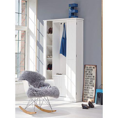 Schaukelstuhl, Eames Rocking Chair RAR, Ahorn, Metall, Polypropylen Vorderansicht