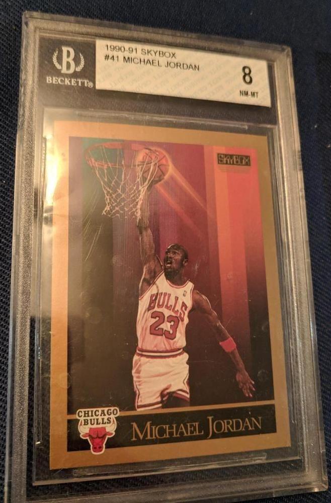 28c33c08b39 1990-91 SKYBOX OLD LABEL BGS 9 MICHAEL JORDAN BULLS  MichaelJordan   sportscards