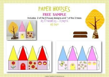 Paper Houses for Playtime FREE sample