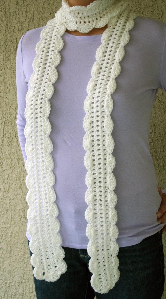 Lightweight Skinny Scarf   Crochet Scarves Pinterest