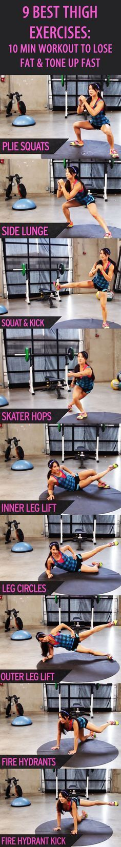 9 BEST THIGH EXERCISES: Our favorite fitness trainer Kelsey Lee shows you how to GET THINNER THIGHS IN JUST OVER TEN MINUTES! Tone your quads and hamstrings