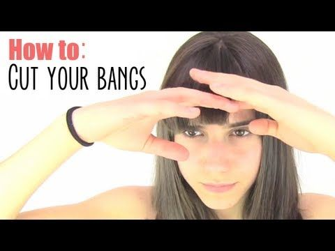 How to cut your bangs.