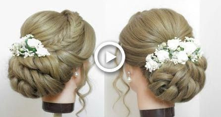Bridal Hairstyle For Long Hair. New Wedding Prom Updo Tutorial #Promhairs