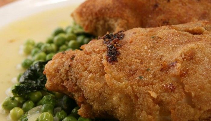 Chicken Kiev with Minted Peas | Good Chef Bad Chef